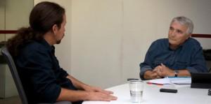 Orencio Osuna con Pablo Iglesias
