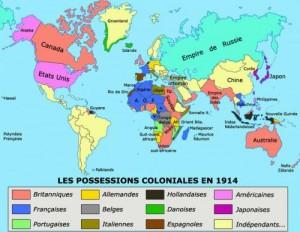 Posesiones coloniales en 1914
