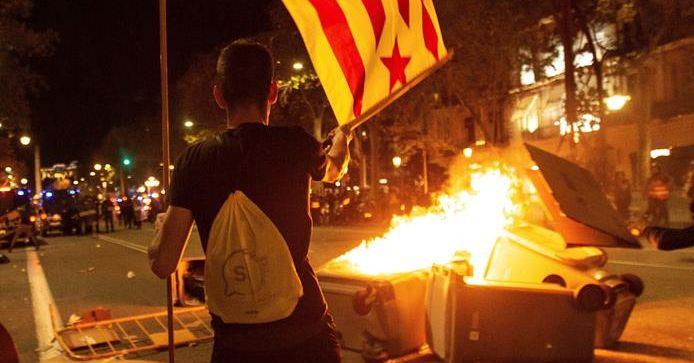 Crónica de los disturbios en las calles de Barcelona